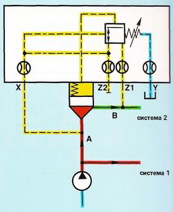Пример подключения по давлению второй системы